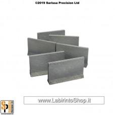 Concrete Traffic Barrier Set High (28mm) Q021
