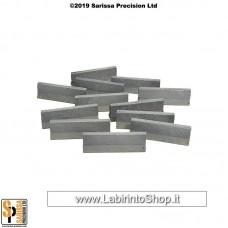Concrete Traffic Barrier Set Low (28mm) Q020
