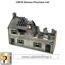 Destroyed Terrace Shops - 20mm 1/72 N216