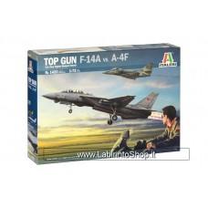 Italeri 1/72 1422 Top Gun F-14a VS A-4F