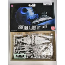 Bandai - Star Wars - Death Star II and Star Destroyer 1/2700000 1/14500 Plastic Model Kit