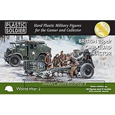 PLASTIC SOLDIER CO: 1/100 British 25pdr and CMP Quad Tractor