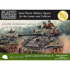 PLASTIC SOLDIER CO: 1/100 Allied Sherman M4A4 And Firefly Tank