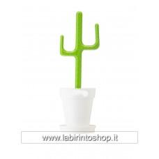 Spazzolino toilette cactus bianco