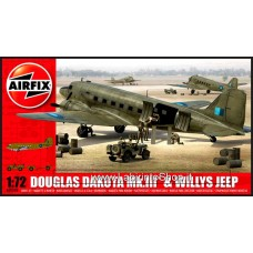 Airfix 1:72 DOUGLAS DAKOTA MK.III & WILLYS JEEP ART 09008