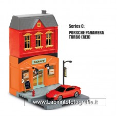 RMZ City European House with Die Cast Vehicle: Porsche 911 Turbo 1:64