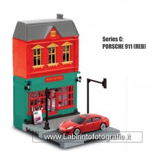 RMZ City European House with Die Cast Vehicle: Porsche Panamera Turbo 1:64