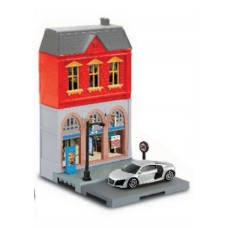 RMZ City European House with Die Cast Vehicle: Audi R8 V10 1:64