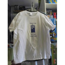 "doctor who t-shirt ""Trust me 'm the doctor"" taglia XXL"