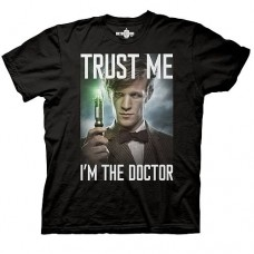 Doctor Who Trust Me I'm the Doctor Black T-Shirt taglia M