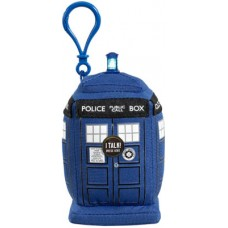 doctor who mini talking plush clip on tardis