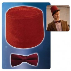 Doctor Who 11th Doctor Fez Hat and Bow Tie Kit
