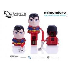 MIMOBOT MIMOMICRO USB DRIVE & READER - SUPERMAN - con MICRO SD da 8gb