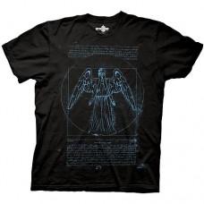 Doctor Who Vitruvian Angel Black T-Shirt taglia M