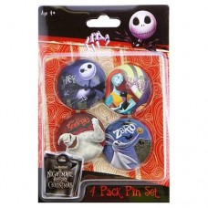Nightmare Before Christmas Pin Set 4-Pack