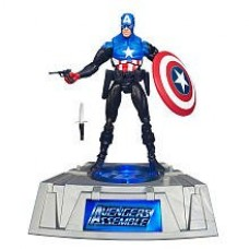 Marvel Universe Exclusive Comic Series Figure With Light Up Base Captain America
