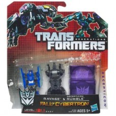 TRANSFORMERS Generations FALL OF CYBERTRON DECEPTICON RUMBLE & RAVAGE 2-Pack