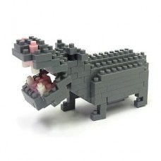 nanoblock Hippopotamus (4x4 mm blocks) Kawada