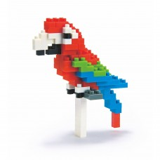 Nanoblock NBC_034 Parrot (Red-and-green Macaw)