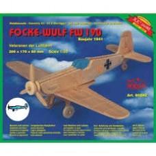 Focke-wulf fw 190 in legno da montare