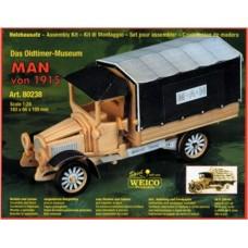 Autocarro man in legno da montare