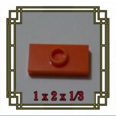Brick Flat Hole 1x2x1/3 SET di 10