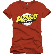Big Bang Theory - The Bazinga Red  T-Shirt Uomo