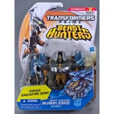 Transformers Prime Beast Hunters Deluxe Class Night Shadoe Bumblebee