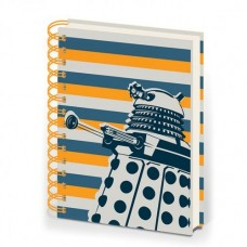 DOCTOR WHO DALEK STRIPE HARDCOVER RINGBOUND A5 NOTEBOOK