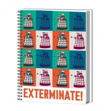 DOCTOR WHO EXTERMINATE HARDCOVER RING BOUND A4 NOTEBOOK