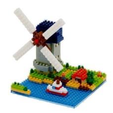 Nanoblock NBH-043 Molen Kinderdijk-Elshout Windmill Building Set, Netherlands