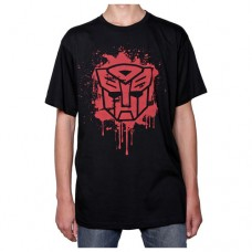 Transformers Autobot Stencil Black T-Shirt