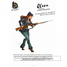 Wargamer Hot and Dangerous 28mm Clara From Union Infantry