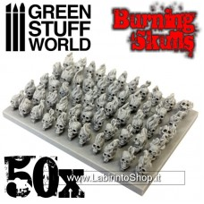 Green Stuff World 50x Resin Burning Skulls