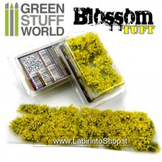 Green Stuff World Blossom TUFTS - 6mm self-adhesive - YELLOW Flowers
