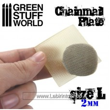 Green Stuff World Texture Plate - ChainMail - Size L