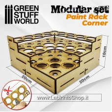 Green Stuff World Modular Paint Rack - STRAIGHT CORNER