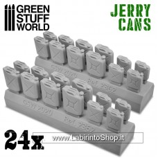 Green Stuff World 24x Resin Jerry Cans