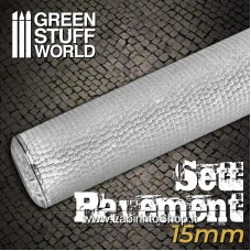Green Stuff World Rolling Pin Sett Pavement 15mm