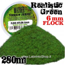 Green Stuff World Static Grass Flock XL - 6 mm - Realistic Green - 280 ml