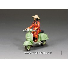 VN083 The Pale Green Vespa Girl