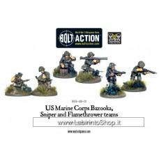 Warlord USMC Bazooka, Sniper and Flamethrower teams