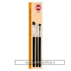 Pennelli Borciani & Bonazzi set di 3 pennelli Sfumatura Pastello Mod.1