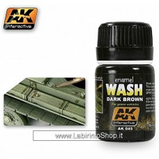 Ak Interactive Ak045 Wash Dark Brown For Green Vehicle