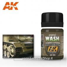 Ak Interactive Ak300 Wash Dark Yellow For German Vehicle