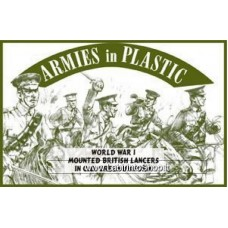 Armies in Plastic - 1/32 - World War I - Mounted British Lancers in O.D. Green Uniform