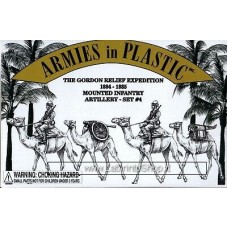 Armies in Plastic - 1/32 - The Gordon Relief Expedition 1884-1885 Mounted Infantry Artillery Set 4