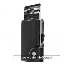 C-secure - Cardholder - Portafoglio Porta Carte di Sicurezza Black - Silver-Grey