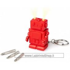 Robot Key Ring Con luci e Cacciaviti Intercambiabili
