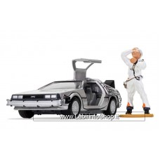 Corgi - Die Cast Model Kit - Back to the Future De Lorean and Doc